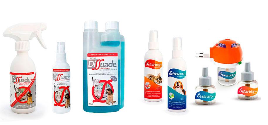 dissuade, serenex, modificadores del comprotamiento de perros y gatos