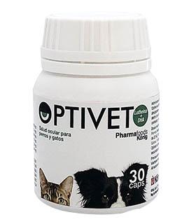 Optivet, salud ocular para perros y gatos. Protección contra cataratas, degeneración macular y sequedad ocular.